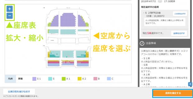 劇団四季:空席から座席を選ぶ