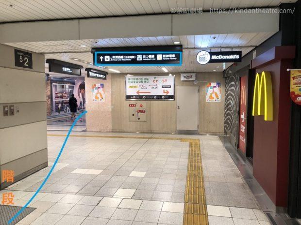 マクドナルド桜橋口店前地下通路